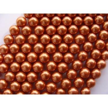 Margele perle imitatie sidef 10mm aramiu -1buc