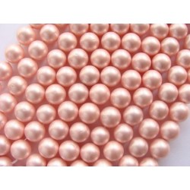 Margele perle imitatie sidef 10mm roz-1buc