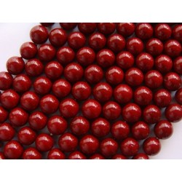 Margele perle imitatie sidef 10mm visiniu -1buc