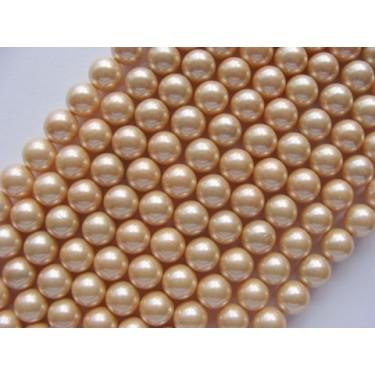 Margele perle imitatie sidef 8mm crem