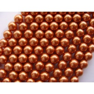 Margele perle imitatie sidef 8mm aramiu -10buc