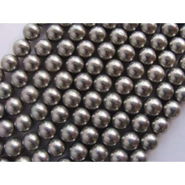 Margele perle imitatie sidef  8mm gri -10buc