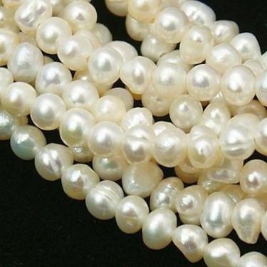Margele perle de cultura  9*6mm albe ovale