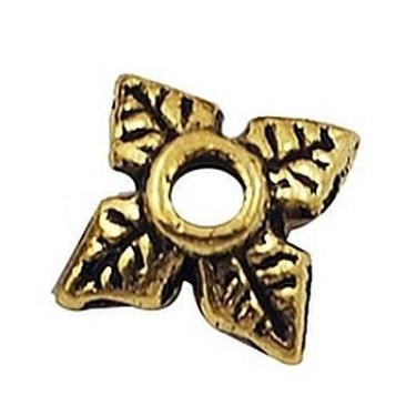 Capacele margele  6mm -10buc aurii