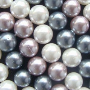 Margele perle imitatie sidef  8mm mixte