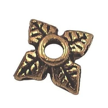 Capacele margele 6mm -10buc bronz