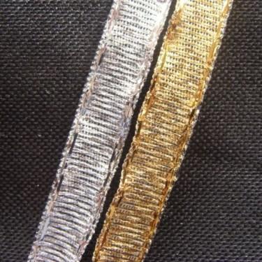 Panglica metalizata  8mm -5metri