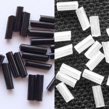 Margele nisip tubulare 6mm portelan mat (50g)