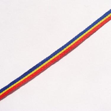 Panglica tricolor 3mm -3metri