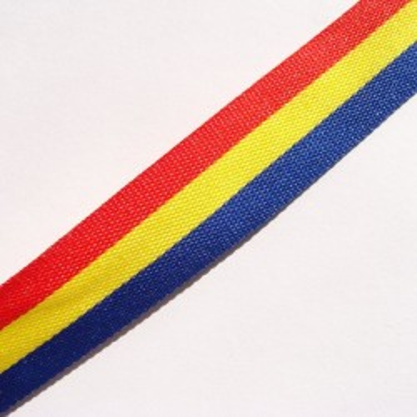 Panglica tricolor 25mm -1metru
