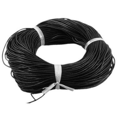 Snur piele naturala 2.5mm negru