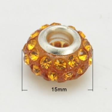 Margele shamballa 15*9mm