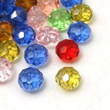 Margele sticla imitatie cristal  8*10mm-4buc