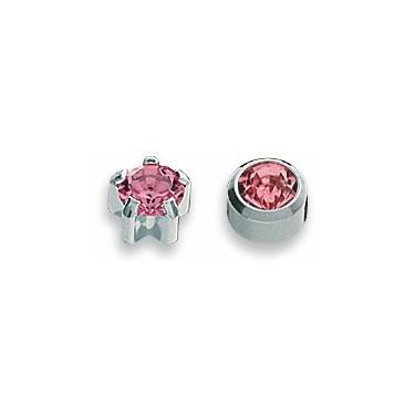 Cercei roz inox
