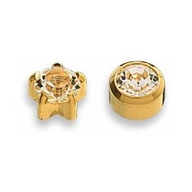 Cercei cristale placati aur