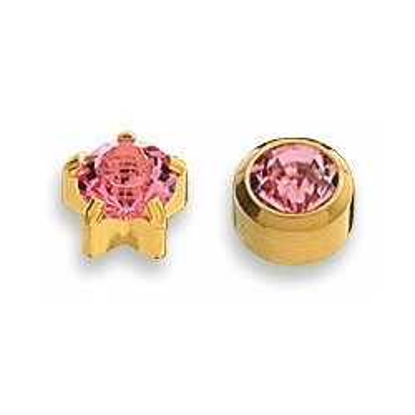 Cercei roz placati aur