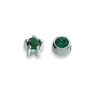 Cercei smarald inox
