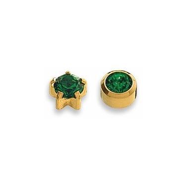 Cercei smarald placati aur