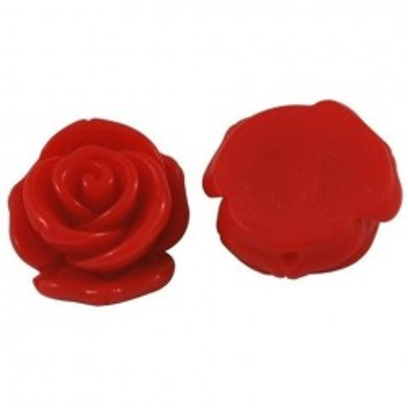 Margele cabochon rasina trandafir 23mm