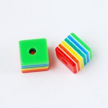 Margele rasina cubice 8mm Jamaica -10buc