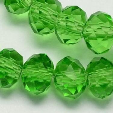 Margele sticla imitatie cristal  6*8mm-4buc