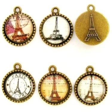 Pandantive foto turn Eiffel 22*26mm