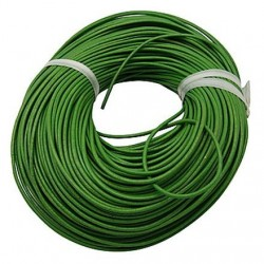 Snur piele naturala 2mm verde