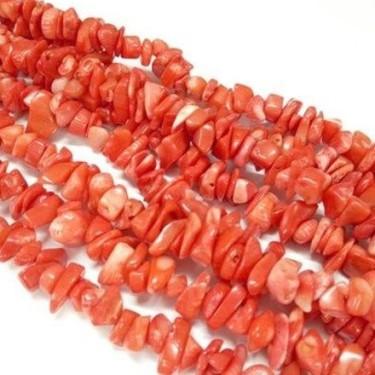 Margele coral chipsuri 6-10mm -84cm