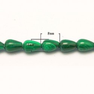 Margele malachit 7*5mm natural 53buc~38cm