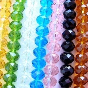 Margele sticla imitatie cristal 4*6mm-96buc