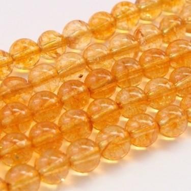 Margele citrin  6mm 38cm~60buc