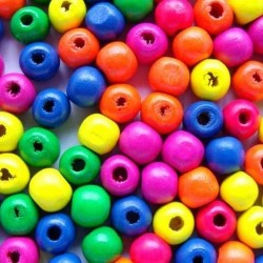Margele lemn multicolore 11*12mm