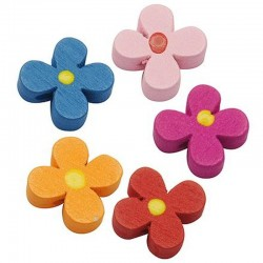 Margele lemn floare 15*5mm