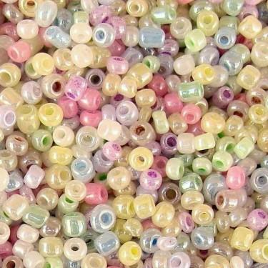 Margele nisip 3mm perlate Ceylon 50g
