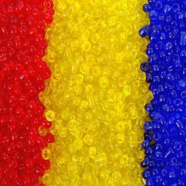 Margele nisip 4mm tricolor