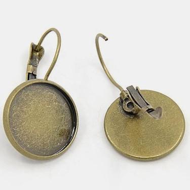 Baza cercei cabochon 12mm bronz - parghie