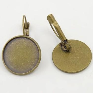 Baza cercei cabochon 16mm bronz - parghie