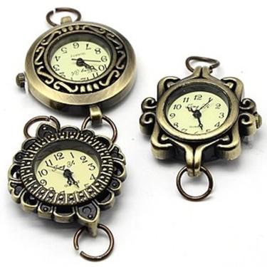 Cadru ceas bronz cu zale