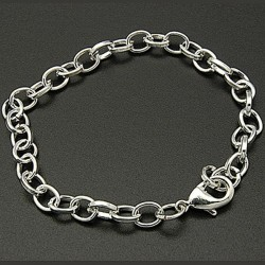 Baza bratari -lant metalic argintiu
