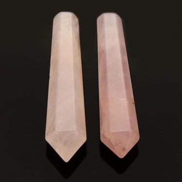Mini-baghete cuart roz negaurite