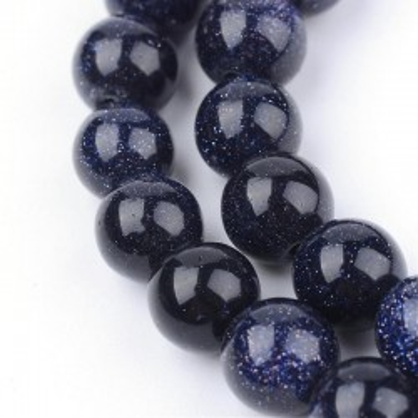 Margele goldsand albastru 5.5mm